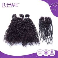 Clean And Soft Kinky Chinese Curly Raw Unprocessed Renaissance Curl Hair Extensions