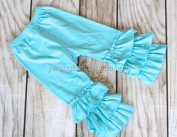 AQUA Ruffle pants capris  Boutique ruffle leggings Baby Toddler Little Girl Ruffle Bottoms.jpg