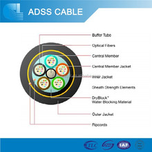 All dielectric self-supporting outdoor aerial 24 core optical fiber cable price adss
