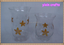 wholesale spraying color star pattern glass vases home decoration according to your color