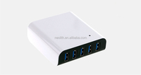 2015 newly 5V 8A 5 USB ports adapter for tablets and mobile phones