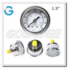 High quality 1.5inch 40mm brass internal utility pressure gauge with back connection