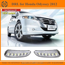 High Power With Yellow Trun Signal LED DRL Fog Light Excellent Quality LED Daylight for Honda Odyssey 2012