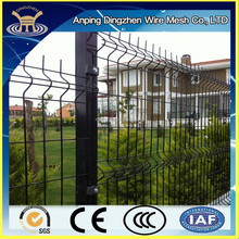 Popular used Vinyl coated solid metal fence panel, easy install wire mesh fence panel