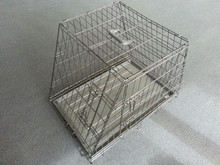 "36"" TWO SLOPING SIDE COLLAPSIBLE PET DOG METAL CRATE CAGE PUPPY PORTABLE HOUSE"
