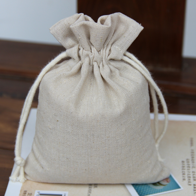 2015 hot selling eco natural cotton bag drawstring for rice packing 5kg 10kg capacity