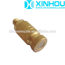 Brass cooling and humidifying high pressure fog system nozzle