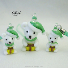 Most Popular Christmas Bear Ornaments,Christmas Angel Bear Gift,Christmas Decoration Nice Quality Glass Bear Christmas Gifts
