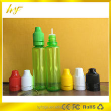 1oz thin and tall shape plastic PET bottle with childproof and tamper evident cap