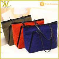 Wholesale Fashion Recreational Velvet Canvas Handbag