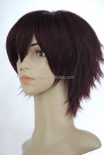 School Cheap synthetic cospaly wig medium green Hot sales art boy's cosplay boys wig
