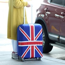 Candy color elastic travel national flag luggage bag cover (L)