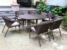 Luxury Rattan Outdoor Furniture (Alu Frame 1.2 Waterproof cushion,UV protection,SGS certificate)