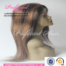 Wholesale alibaba express ombre coloring lace front 100 human hair wig