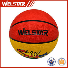 Children toys rubber Novelty outdoor colorful basketballs