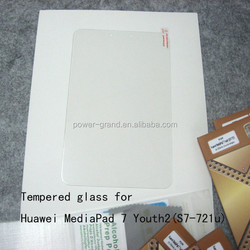 Top quality 9H Tempered Glass screen protector guard film for Huawei MediaPad 7 Youth2 S7-721u S7-721 Tablet