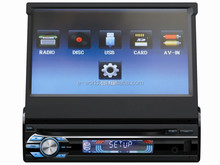 1 din girando 7 polegada CAR DVD player com rádio / AM / FM