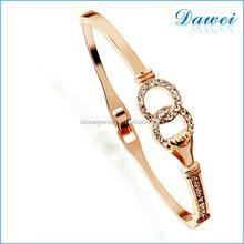 China supplier vogue diamond bracelet gold plated bracelet bangle