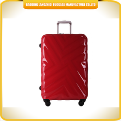 Hardshell ABS travel luggage bag easy carry on aluminum trolley luggage bag