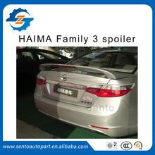 High quality car ABS plastic HAIMA Family 3 rear spoiler with led light