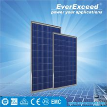 EverExceed 100W Polycrystalline Solar Panel made of Grade A solar cell with tempered glass certificated by TUV/VDE