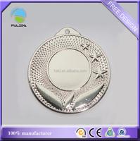 wholesale metal blank frame stars silver promotional medal medallion