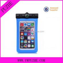 PVC drawstring mobile phone waterproof bag/ armlet cell phone waterproof case