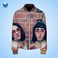 custom jacket china/sublimation printing sweater jacket/designer jacket