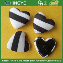 Heart Shape Fabric Covered Shank Button ---- F1504
