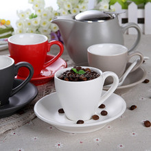 100ml New products ceramic colored espresso mini cup and saucer Factory directly sale