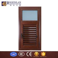 ROGENILAN aluminium wooden grain window blind shutters louver slat design