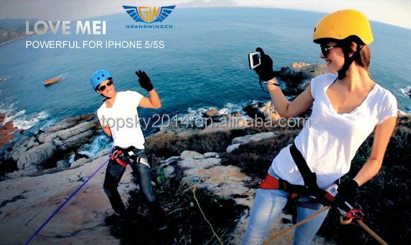 Gorilla Glass Dirtproof Waterproof Shockproof Love Mei Metal Aluminum Case For Iphone 5 5S