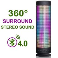 10W Hi-Fi Portable Wireless Bluetooth 4.0 Speaker 5 LED Light Visual Display Mode Powerful Sound with Build in Microphone Suppor
