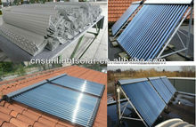 solar thermal concentrator with copper heat pipe