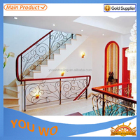 Decorative Antique Wrought Iron Stair Railings Design/Forged Steel Balusters
