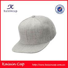 OEM designed top quality flat brim acrylic and wool snapback caps