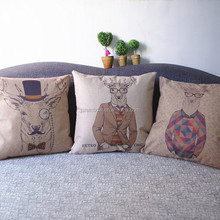 Hot sale custom made deer digitally printed cushions cover wholesale A109