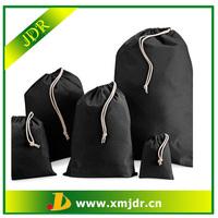 Promotion Custom Black Cotton Drawstring Bag