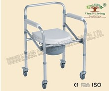 commode chair Drive Medical. Aluminum Shower Chair/Commode with Casters