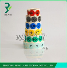 Security self-adhesive round paper label sticker serialized anti counterfeit hologram stickers