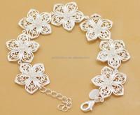 flower sterling silver bracelet costo bracciale tennis