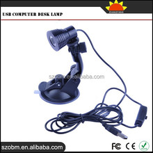 Wholesale Flexible OEM 1W LED Reading Bed Lamps Rechargeable Led Desk Lamp With USB Port