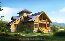 China spacious leisure prefabricated wooden house/villa