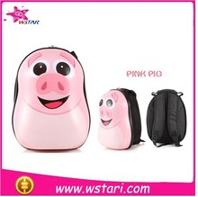 wholesale fashion for kids gifts for kids Eggshell School bag WITH LIGHT Pink Pig