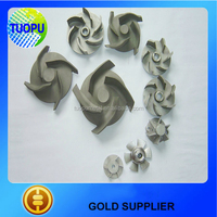 China sand pump impeller,water pump impeller,centrifugal pump impeller size