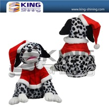 Factory price OEM service hot style christmas dog toys, musical and dance plush toys for gifts.