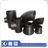 carbon steel pipe fitting with A105 A181 ASME B16.9 ANSI B36.10 B36.19M DIN JIS pipe elbow tee reducer cap flange bend cross