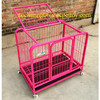 multicolor square tube dog cage dog kennel with wheels