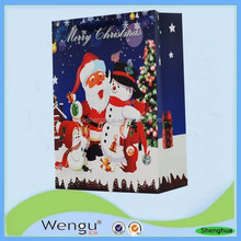 Hot new products for 2015 christmas gift paper handbag for gift package ,paper bag supplier and manufacture