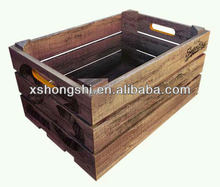 wooden Fruit Vegetable crate ,Rack,wooden storage boxes